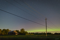 Aurora Borealis - Highway 38 Roadside (Adam C Images) Tags: nikon d800 full frame dslr night sky aurora northern lights space noaa stars sun solar flare cme hss roadside power lines rural kingston godfrey ontario canada 20mm f18g ed nano crystal coat