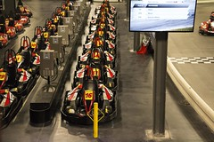 Go Karts (Kyle McLaughlin) Tags: go karts colorado linear organised red yellow sport fun exciting