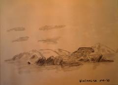 MENORCA. BINIMEL-LA.09-16.Carboncillo.2 (joseluisgildela) Tags: menorca samesquida playas islasbaleares carnetsdeviaje acuarelas sketch