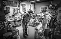 Taking Care Of The Customer - Vancouver, Canada (, ) (dlau Photography) Tags: customer vancouver canada     ceramic  purchase  travel tourist vacation visitor people lifestyle life style sightseeing   trip   local   city  urban tour monochrome  blackandwhite black white    art