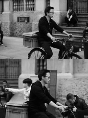 [La Mia Citt][Pedala] (Urca) Tags: milano italia 2016 bicicletta pedalare ciclista ritrattostradale portrait dittico bike bicycle biancoenero blackandwhite bn bw 89120