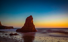 Davenport Stack (tryggphoto) Tags: california ocean coast beach geology monolith stack water sunset dusk pacific
