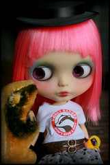 Honey Badger influence... (jillybug ~) Tags: blythe custom steiff grimley honeybadger noedits justsayin thankyoul giftee mobettablythe