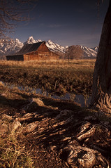 Mormon Row_DSC0976 (antelope reflection) Tags: sunrise tetons mormonrow tetonnationalpark mormonbarn nikond90