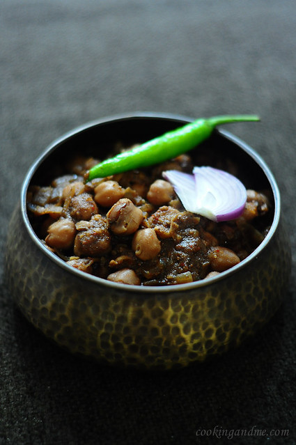 Punjabi Chole Masala (Channa / Chana / Chickpeas) Recipe