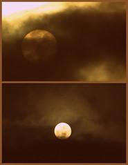 sun/moon - rise/set (smacss) Tags: california light sun moon collage fog set dark haze bright picasa super oceanside rise