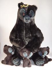Mini Cub Brave Plush Toys - With Mum Bear Take #1 (drj1828) Tags: bear bag toy store inch 7 8 mini bean disney plush mum brave cubs princes triplet