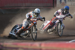 Jerran Hart and Ross Walter (Richard Amor Allan) Tags: bike mud bikes cycle stokeontrent rider speedway cycles riders motorcyles scunthorpesaints rosswalter jerranhart stokepotters loomerroad