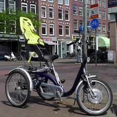 No handicap plates needed (@WorkCycles) Tags: amsterdam bike bicycle electric adult tricycle trike handicap maxi childseat ebike yepp vanraam