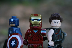 """You can be ---- sure we'll avenge it."" (141 ""HAWKEYE"" Productions) Tags: man america star iron lego captain hawkeye wars custom productions 141 avengers"