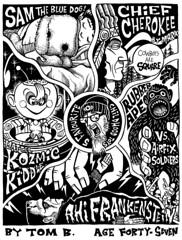 5 Favourite Childhood Toys (Tom Bagley) Tags: canada calgary monster illustration ink toys weird 5 cartoon folklore eerie creepy spooky frankenstein marx kingkong ahi mattel airfix ooky tombagley brushwork kozmickiddle kozmickiddles chiefcherokee rubberape hongkonggorilla