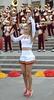 Img284911nx2 (veryamateurish) Tags: london trafalgarsquare cheerleaders band usc universityofsoutherncalifornia girl woman miniskirt