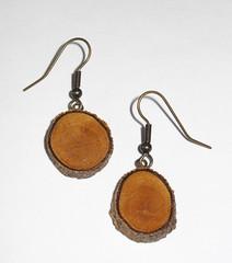 Wood EarringsAntique Brass Wood Earrings (RoseRibbon) Tags: wood rose women handmade antique crafts jewelry drop womens gifts gift ribbon accessories earrings brass dangle polished