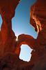 Feeling in wonderland, Arches NP, Utah (Robyn Hooz) Tags: red orange sun sunshine rock canon eos sigma arches erosion wierd huge walls sole roccia pietra rosso alto ultrawide grandangolo height strano arancione muri archi alignment enorme 600d allineamento 1020exhsm