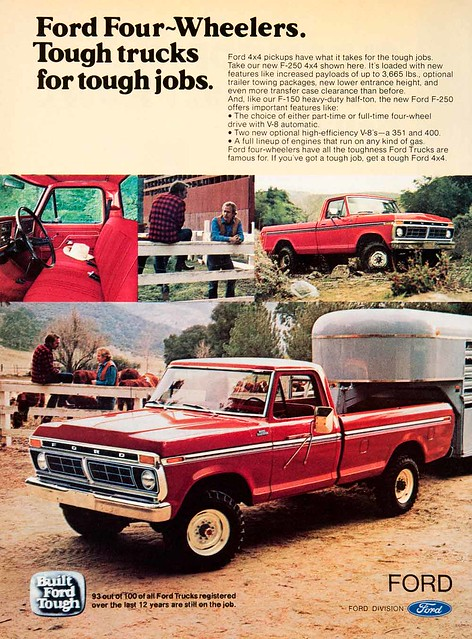 ford truck 4x4 pickup trailer 1977 1976 towing f350 f250