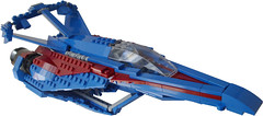Swallowtail - Title1 (.Jake) Tags: blue lego space negativespace engines spaceship swoosh