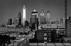 A Father's Day Gift to Myself.... (ADW44) Tags: blackandwhite bw philadelphia skyline skyscrapers stitch panoramic penn philly hdr universitycity drexel uop canon70200f28 cityofbrotherlylove ptgui photomatix comcasttower canon5dmarkii
