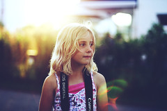 (Jessica Christ) Tags: sunset sun cute girl canon 50mm golden bokeh 14 hour goldenhour sunflare eos450d