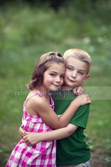 Twins (Rebecca812) Tags: family pink boy summer vacation portrait cute green love girl smile grass vertical kids children happy togetherness twins hug child friendship sweet sister brother blueeyes innocent siblings hazeleyes embrace fraternal sundress bestfriends bonding northwoods brownhair fiveyears blondhair canon5dmarkii rebecca812
