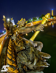 Nymphe (A.G. Photographe) Tags: bridge fish paris france seine night french nikon raw iii eiffeltower eiffel fisheye invalides toureiffel champdemars ag pont fx péniche 16mm alexandre nuit quai hdr parisian anto d800 parisienne xiii parisien gustaveeiffel antoxiii photoengine hdr5raw oloneo agphotographe hdrengine oeilpoisson