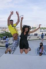 Roof jump - June, 2012 (RodaLarga) Tags: madrid lumix jump jumping spain lx5