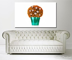 ORANGE DAISY FLOWERPOT (Canvas Art Shop) Tags: flowers art floral wallart posters prints homedecor flowerart floralprints canvasart canvasprints flowerprints flowerwallart flowercanvasprints flowercanvasart