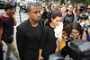 Kanye West and Kim Kardashian Paris Fashion Week Fall / Winter 2013- Stephane Rolland - Celebrity Arrivals Paris, France