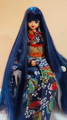 Excelina in Kimono (possiblezen) Tags: blue castle marine doll factory dress little alice jenny chan kimono limited takara exclusive licca