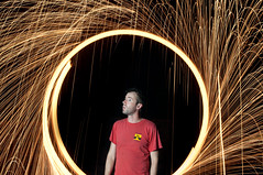Day 188 - Stunned (Creative_Light_Photography) Tags: light lightpainting fire steel magic flames stunned setupshot spinningwool strobist