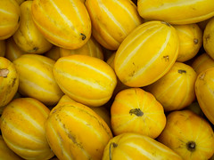 Korean melons (debit72) Tags: california food plant yellow unitedstates sangabriel melon koreanmelon