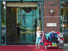 baggage manager (duqueıros) Tags: city berlin germany deutschland hotel child kind stadt baggage manager gepäck duqueiros