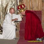 Sovereign King Doug Wolfgang crowns Sammy Swindell