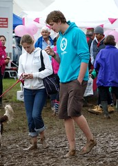 Barefoot Couple (The original SimonB) Tags: people feet person bare july olympus rainy essex muddy agricultural 2012 lawford e420 squelchy tendringshow tendringhundredshow
