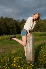 Kristina (Theresa ) Tags: fashion model outdoor kristina posing blond heels denim coolbeans