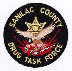 MI - Sanilac County Drug Task Force (Inventorchris) Tags: county college public club mi campus justice office community peace cops force display michigan police safety criminal collections cop drug service law enforcement patch emergency patches department officer task officers colection saftey sanilac enforcment