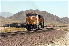 Westbound At East Siberia - 1.0 (greenthumb_38) Tags: train desert quality siberia mojave locomotive mojavedesert mohave manifest canon40d jeffreybass