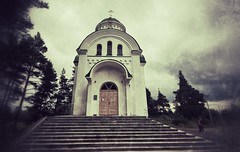 Vileyka: The Church Of St. Tikhon (lemmingby) Tags: postprocessed building church travels trips belarus russianorthodox vileyka otherwheres snapseed