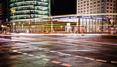 Potsdamer Platz (marin.tomic) Tags: street city travel urban berlin station night germany square deutschland lights nikon europe nightshot bahnhof german potsdamerplatz mitte lighttrail d90
