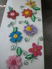 MÓBILE de flores (Baby e Keridinha) Tags: artesanato fotos fuxico feltro fotografia artes trocas aula tijuca aulas oficinas encontros passoapasso centrodeartes