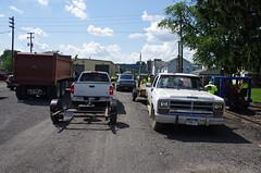 One Coming, One Going - IMGP6455 (geepstir) Tags: car reading pennsylvania rail pa shamokin speeder sunbury narcoa
