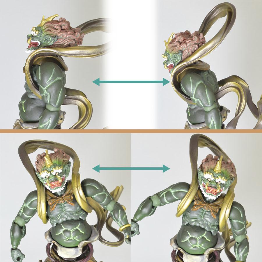 海洋堂山口式可動神像最新作NO.009『風神』NO.010『雷神』