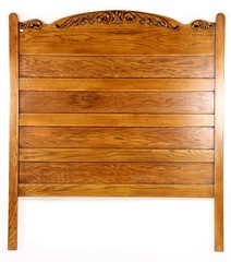 68B. Full Size Oak Headboard