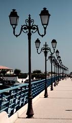 lamp (FiPremo) Tags: blue color eos mare colore blu sigma azzurro serie lampioni filippo fili camargue 50d eos50d premoli filippopremoli