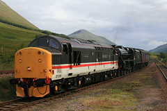 Intercity 37518 at Bridge of Orchy on 5Z32 Carnforth to Fort William (60044) Tags: