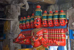 Ravana - The 10 Headed Demon (VinayakH) Tags: halasurusomeshwaratemple bangalore india ulsoor chola vijayanagaraempire kempegowda hindu shiva temple hinduism