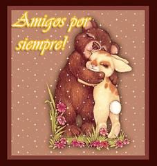 Abrazos Amigos por siempre! | Imagen Animada (Compartir es Bueno!) Tags: amistad amigos amigo amigas mejores amiga