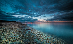 Structures (Tore Thiis Fjeld) Tags: norway seascape sea sky clouds afterburner sunset rocks stone structure water surface le longexposure samyang 14mm nikon d800 colors lines diagonal outdoors