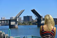 Bridge Open (swong95765) Tags: bridge river open drawbridge woman blonde female lady observation