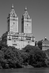 The San Remo Overlooking The Lake In Central Park (Photographs By Wade) Tags: newyorkcity newyork manhattan sanremo apartmentbuilding centralpark thelake skyscraper building sky trees