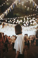 Lights (Je) Tags: light lights night party girl brunette portratit portraiture outside nature green city summer new teen